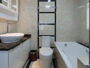 简约型卫生间装修效果图 浴缸设计图