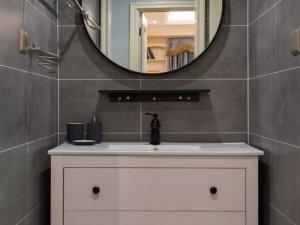 现代美式风格卫浴间装修效果图 美式简约浴室柜图片