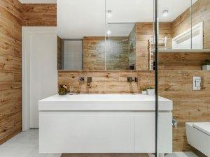 现代简约风卫浴装修效果图 原木色卫浴搭配效果图