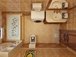 美式卫浴装修效果图  卫浴间装修图片