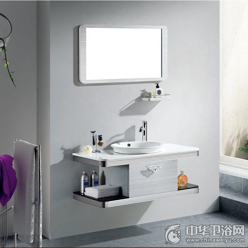 高斯卫浴 简约风格BV-62577、YP-62529浴室柜效果图