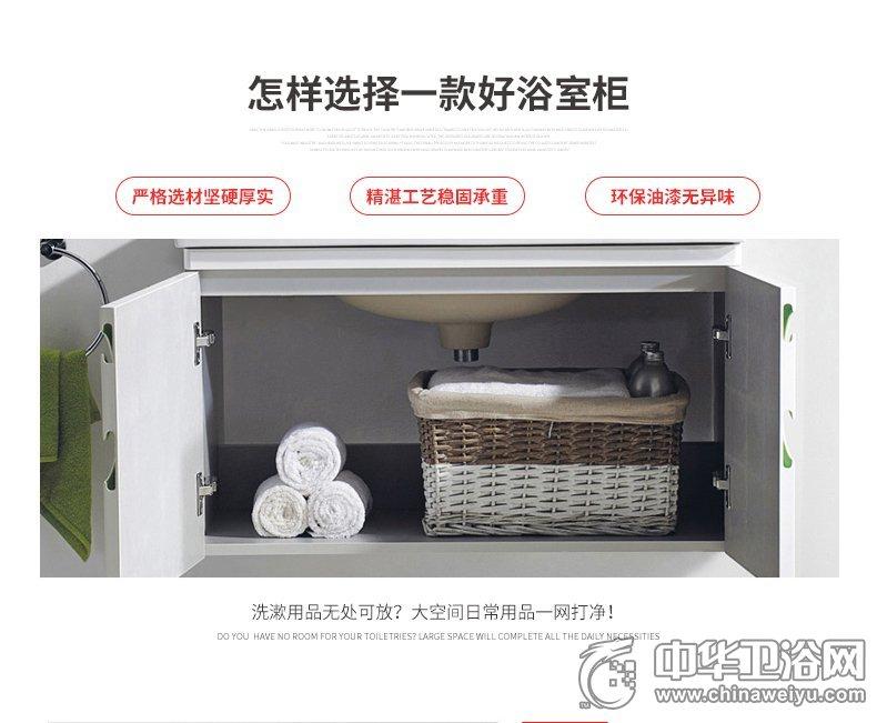 东鹏卫浴洁具浴室柜效果图 组合现代小户型实木镜柜简约浴室柜10812