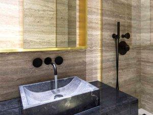 现代与法式风格相结合卫生间装修效果图 混搭风卫生间效果图