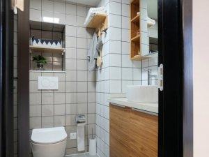 北欧风卫生间装修效果图 干湿分离卫生间图片