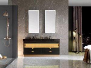 普瑞凡卫浴图片 中式风格凯宾系列浴室柜效果图