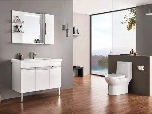 浪鲸卫浴图片 现代简约浴室柜BF1002-100效果图