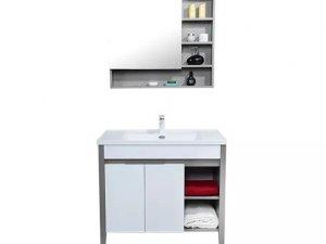 欧路莎卫浴图片 简约现代风格浴室柜新品效果图