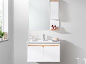 心海伽蓝图片 现代简约实木浴室柜效果图