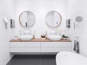 双人洗漱台装修效果图 小型卫生间设计图