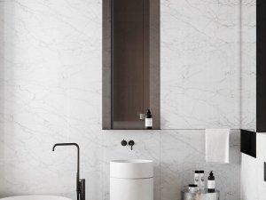 北欧极简风浴室效果图 浴缸装修效果图