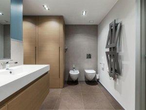 简约卫生间装修效果图 壁挂式马桶图片