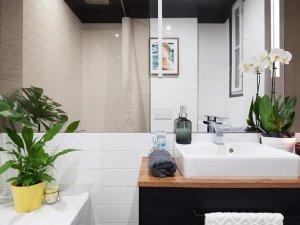 卫生间浴帘装修效果图 洗漱盆装修图片