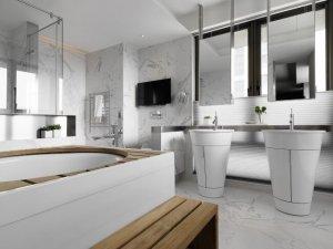 现代简约风格浴室设计效果图  洗漱盆装修图片