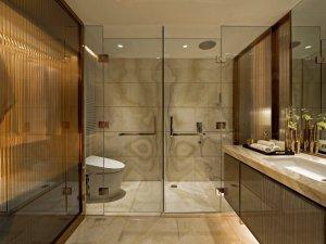 豪华套房卫生间装修效果图 智能马桶装饰效果图
