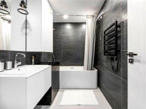 简约风灰白色卫浴间装修效果图 小户型卫生间图片