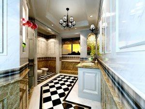 豪华主卧大卫生间装修效果图 大理石浴室柜图片