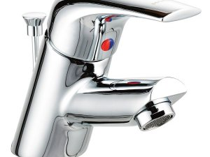摩恩卫浴图片 镀铬单把手单孔面盆龙头产品展示