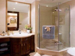欧式豪华卫生间效果图 玻璃淋浴房图片大全