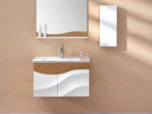 益高卫浴图片 现代风格浴室柜PC003WH-1效果图