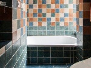 田园风浴室装修效果图 砖砌浴缸图片大全