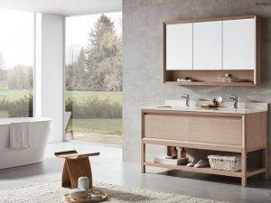 尚高卫浴图片 简洁素雅浴室柜装修效果图