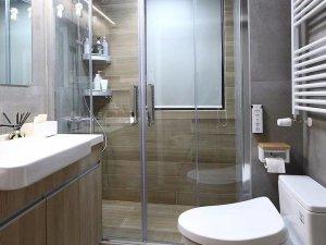 时尚卫生间装修效果图 淋浴房马桶图片大全