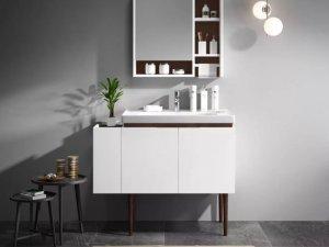 九牧卫浴图片 欧芬纳实木浴室柜A1215效果图