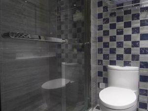 小户型浴室图片大全 玻璃隔断门效果图
