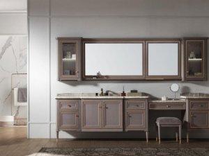 阿洛尼卫浴图片 鎏金岁月浴室柜产品展示