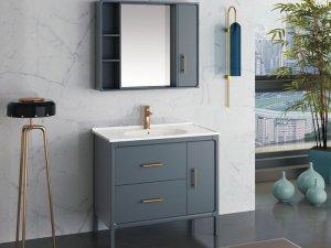 金牌卫浴图片 实木浴室柜产品展示