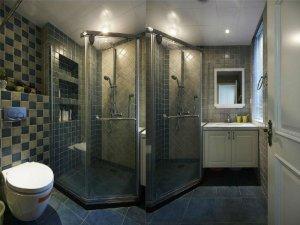 美式卫生间装修效果图 整体淋浴房图片