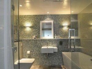 现代风卫生间图片 玻璃隔断门干湿分离效果图
