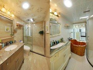 欧式大卫生间图片 弧形淋浴房效果图