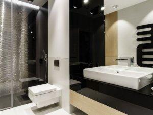 极简风卫生间效果图 白色智能马桶图片