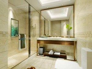 卫生间干湿分离效果图 玻璃淋浴房图片大全