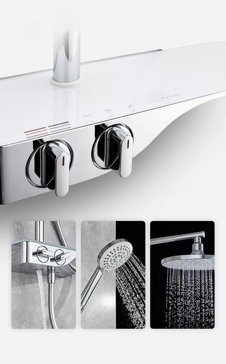 九牧卫浴  牧雨系列轻薄自动除垢淋浴套装效果图