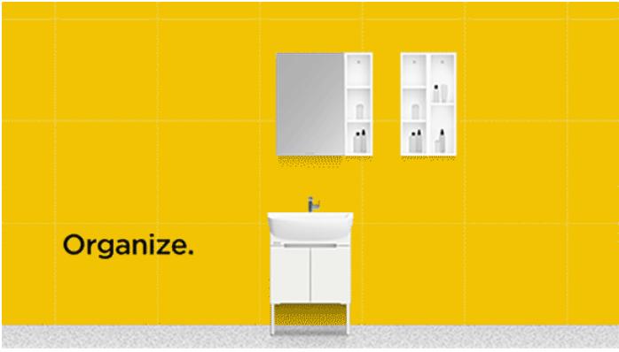 美标卫浴  魔方系列组合柜效果图