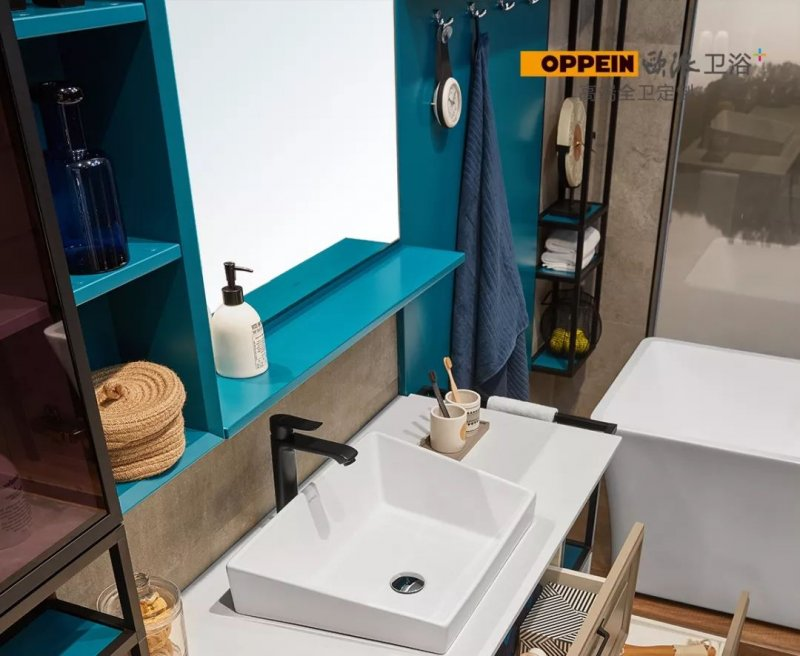 欧派卫浴  阿拉斯加系列浴室柜效果图