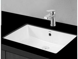 toto卫浴效果图 时尚嵌入式方形洗手盆型号LW596RB