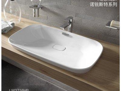 toto卫浴效果图 诺锐斯特系列时尚台上盆图片型号LW3716 3717HB