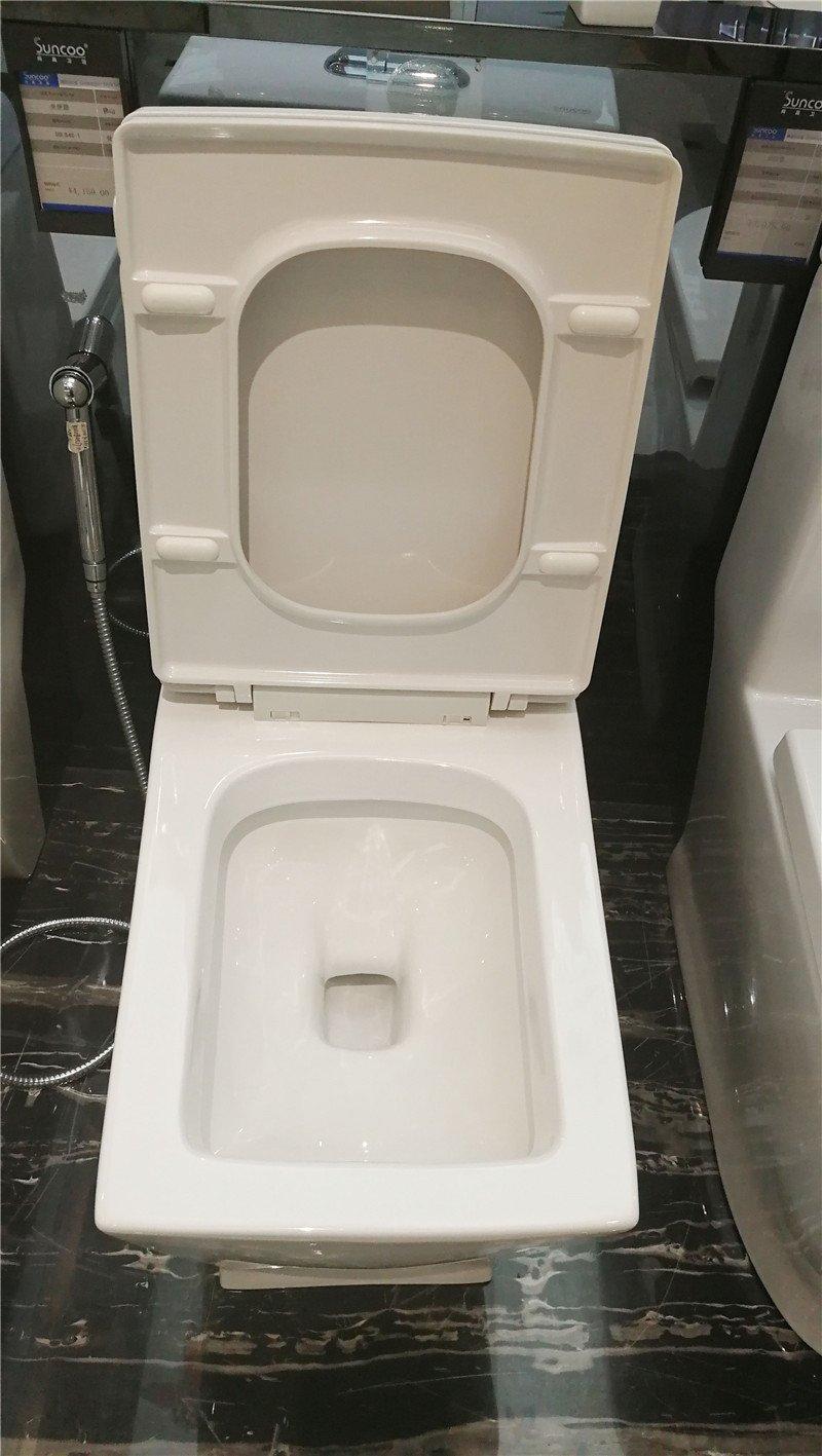 尚高卫浴 防臭缓降坐便器抽水马 座便器连体式静音节水 SOL848效果图