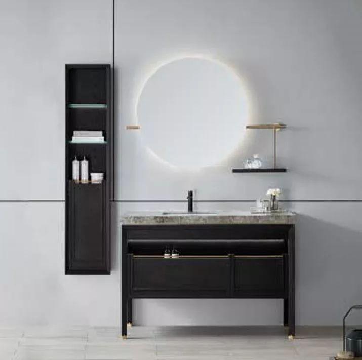阿洛尼浴室柜 新中式浴室柜效果图