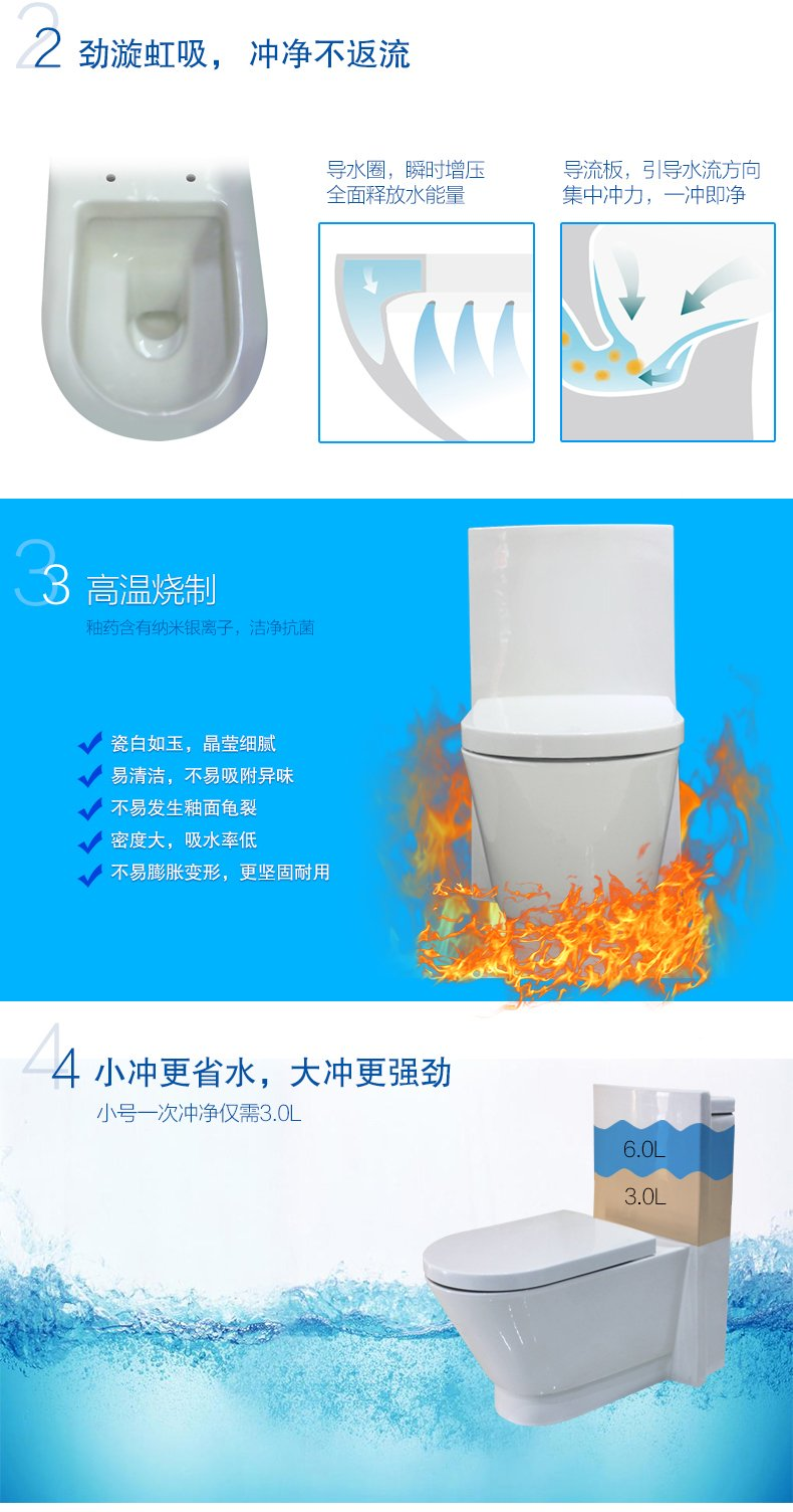 和成卫浴 座便器浴室坐便器巴登连体省水一转通一体马桶5519效果图