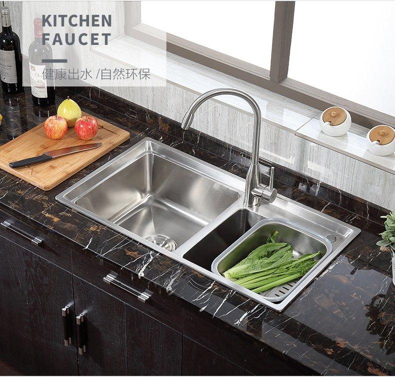 箭牌卫浴 不锈钢厨房水槽龙头可旋转冷热菜盆水槽水龙头效果图_27