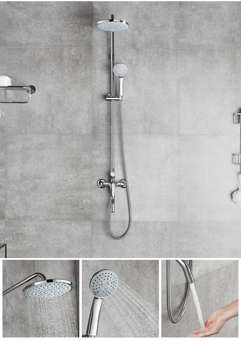 安华卫浴 马桶花洒浴室柜组合洗手盆洗漱台卫生间超值精英套餐效果图
