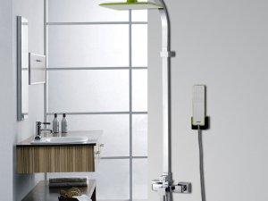 HHSN辉煌 个性顶喷彩色大淋浴花洒套装冷热水龙头淋雨器三出水效果图