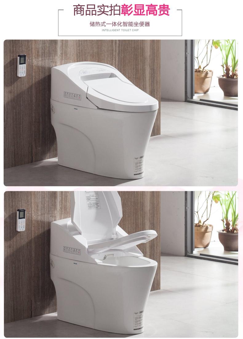 法恩莎卫浴  家用多功能全自动一体智能马桶高级电动冲洗坐便器FB1653-3产品图片
