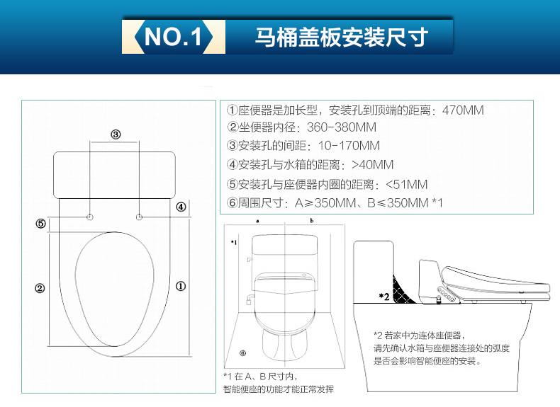 安华卫浴 智能马桶盖 加热洁身器冲洗器电动坐便盖板anK1006智能盖板效果图_3
