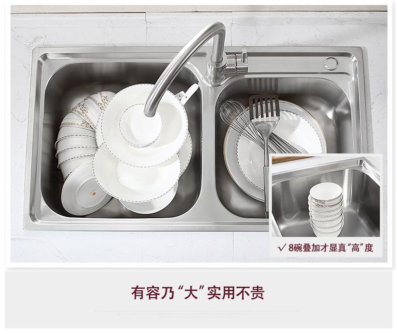箭牌卫浴 厨房水槽双槽304不锈钢洗菜盆带水龙头AE55321系列效果图