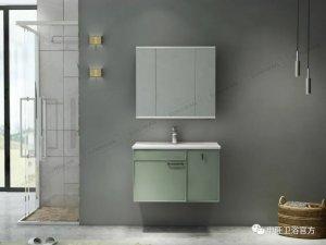 申旺风图片SW683057 绿色系水镜浴室柜效果图